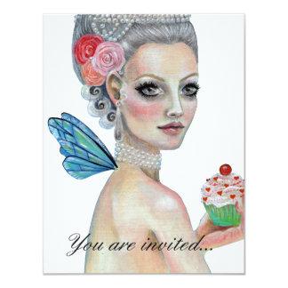 Déjelos comer la torta invitación 10,8 x 13,9 cm