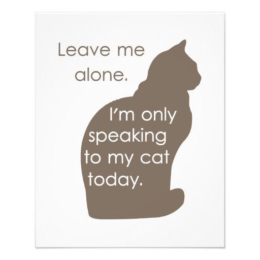 Déjeme me solo están hablando solamente a mi gato  tarjetones