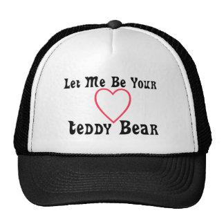 Déjeme ser su gorra del oso de peluche