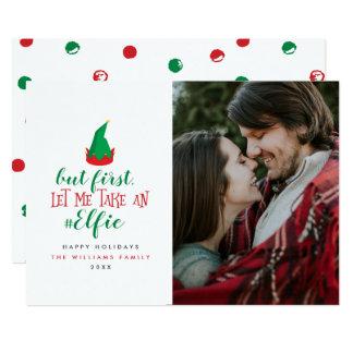 Déjeme tomar a navidad de un Elfie tarjetas de la