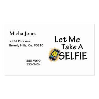 Déjeme tomar un Selfie Tarjetas De Visita