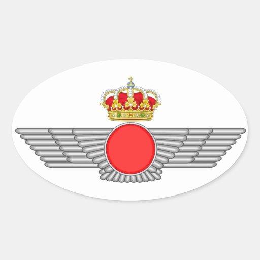 Del Aire de España del EL Ejército Colcomanias De Óval Personalizadas