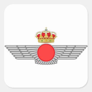 Del Aire de España del EL Ejército Calcomanias Cuadradas