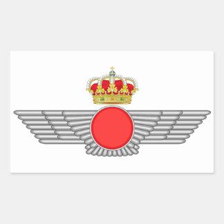 Del Aire de España del EL Ejército Pegatina Rectangular