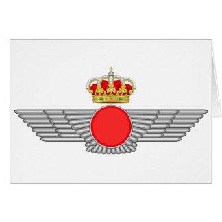 Del Aire de España del EL Ejército Felicitación