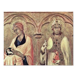 Del Altarpiece Predellatafel tercer de Pisa de Invitación 10,8 X 13,9 Cm