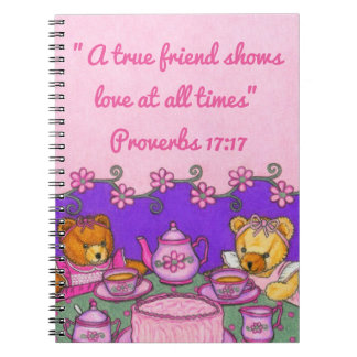 Del Amigo-Amor una fiesta del té verdadera de los Cuaderno