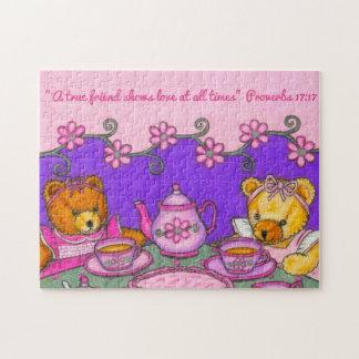 Del Amigo-Amor una fiesta del té verdadera de los Puzzle