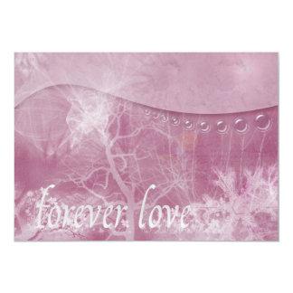 Del amor invitación para siempre invitación 12,7 x 17,8 cm