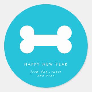 Del año el pegatina más lindo del Año Nuevo del