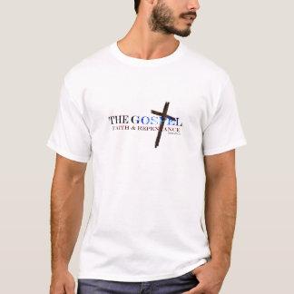 Del ARREPENTIMIENTO del EVANGELIO la cruz de la Camiseta