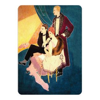 ~ del art déco de los años 30 en el teatro invitación 12,7 x 17,8 cm