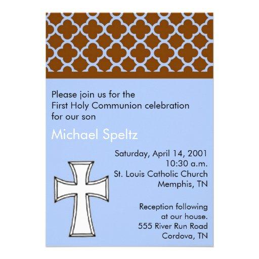 Del azul invitación de la comunión santa primero