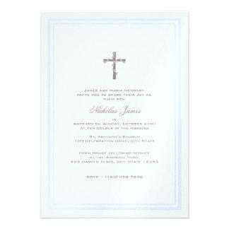 Del bautizo azul y Brown suavemente