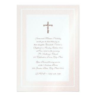 Del bautizo rosa y Brown suavemente