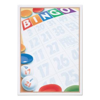 © del bingo invitación 12,7 x 17,8 cm