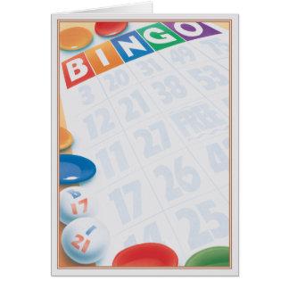 © del bingo tarjeta de felicitación