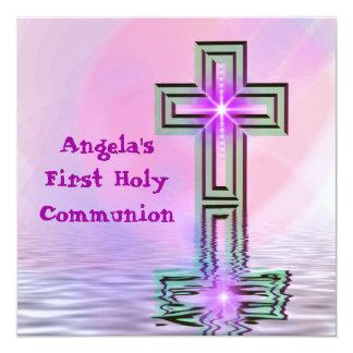 Del bonito comunión santa primero invitación 13,3 cm x 13,3cm