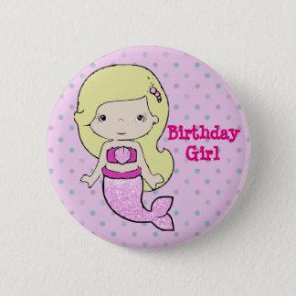 """Del """"botón temático chica del cumpleaños"""" de la chapa redonda de 5 cm"""
