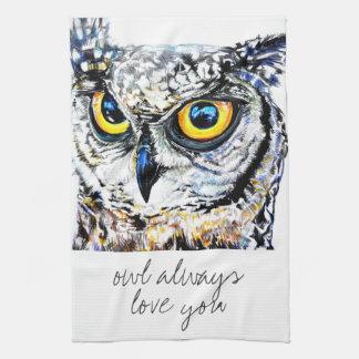 del búho amor siempre usted toallas