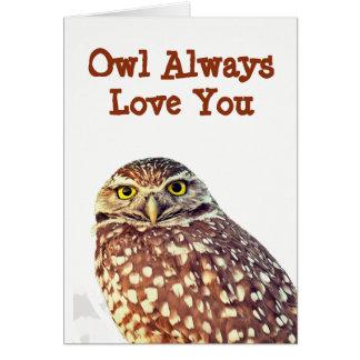 Del búho amor siempre usted toda la tarjeta de