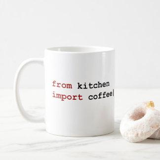 del café de la importación de la cocina - taza del