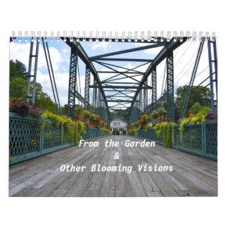 Del calendario de pared del jardín