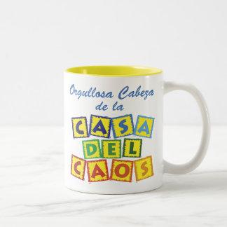 Del Caos de Cabeza de la Casa Tazas De Café