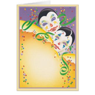 © del carnaval tarjeta de felicitación