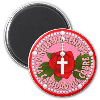 Del Cobre de Señora de la Caridad Imán Redondo 5 Cm