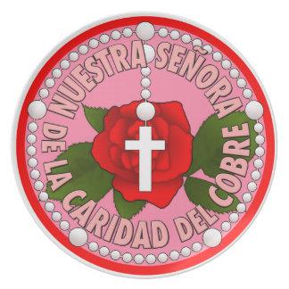 Del Cobre de Señora de la Caridad Platos Para Fiestas