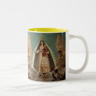 Del Cobre de Virgen de La Caridad Taza Dos Tonos