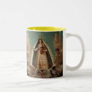 Del Cobre de Virgen de La Caridad Taza De Dos Tonos