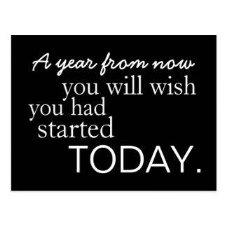 Del comienzo postal de motivación hoy