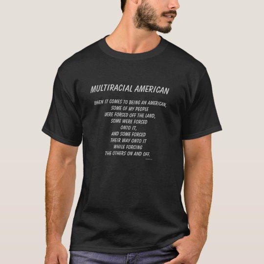 """Del """"con./desc. forzado multirracial americano"""" - camiseta"""
