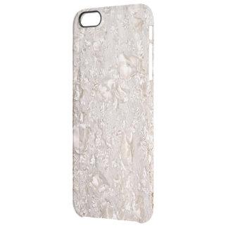 Del cordón de la textura de la caja fina blanca funda transparente para iPhone 6 plus
