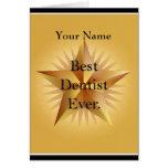 Del dentista saludo de la estrella del oro mejor felicitación