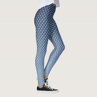 ~ del estilo de la sirena azul marino leggings