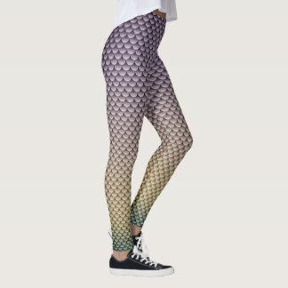 ~ del estilo de la sirena gris perla, amarillo y leggings
