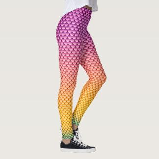 ~ del estilo de la sirena púrpura, amarillo y leggings