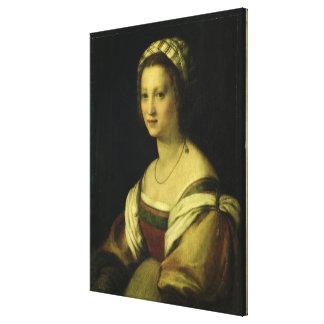 Del Fede, la esposa del artista, C. de Lucrezia di Impresión En Lienzo