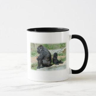 Del gorila del tiempo taza de café hacia fuera