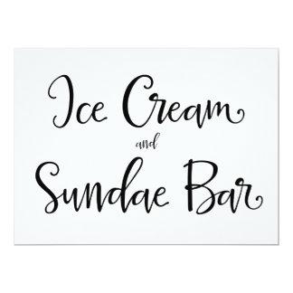 """Del helado de la caligrafía el   """"muestra de la invitación 16,5 x 22,2 cm"""