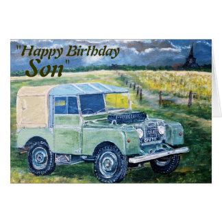 """Del """"hijo feliz cumpleaños"""" de """"FREYA"""", tarjeta"""