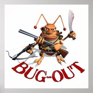 Del insecto cucaracha hacia fuera póster