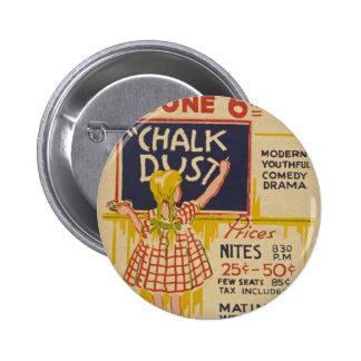"""Del """"insignia teatro de Hollywood"""" del vintage Chapa Redonda De 5 Cm"""