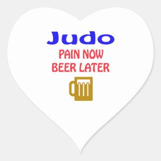 Del judo del dolor cerveza ahora más adelante pegatinas corazon personalizadas