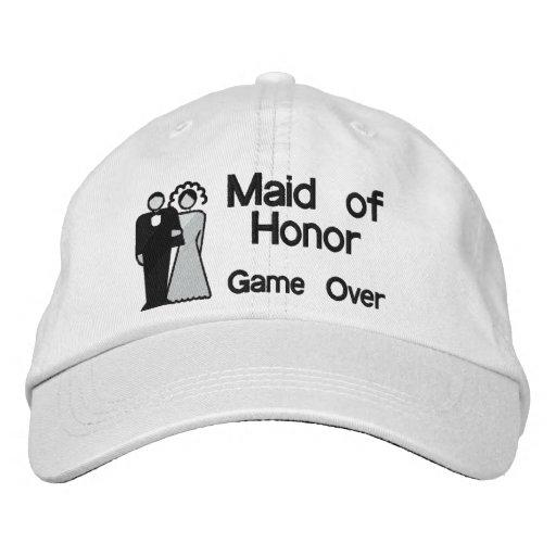 Del juego criada encima - del honor gorra de béisbol bordada