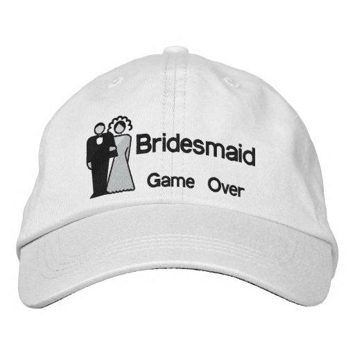Del juego dama de honor encima - gorra de béisbol