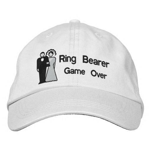 Del juego portador de anillo encima - gorra de béisbol bordada